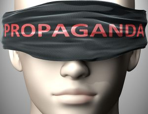 Propaganda can make things harder to see or makes us blind to th
